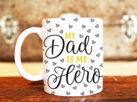 Goochicoo Dad Is My Hero Mug - The Official Aunty Acid Store