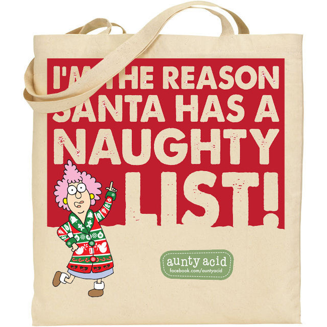 Aunty Acid Naughty List Tote Bag - The Official Aunty Acid Store