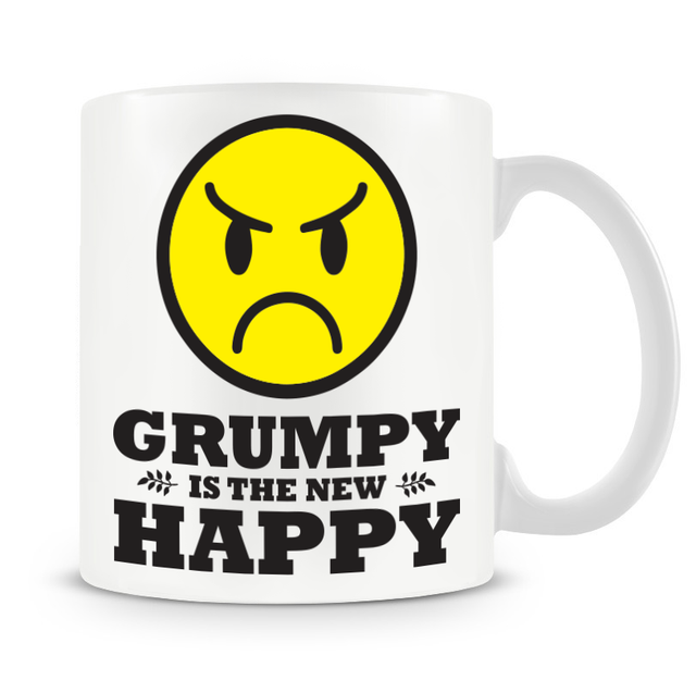 Grumpy Old Gits Grumpy Is The New Happy Mug - The Official Aunty Acid Store