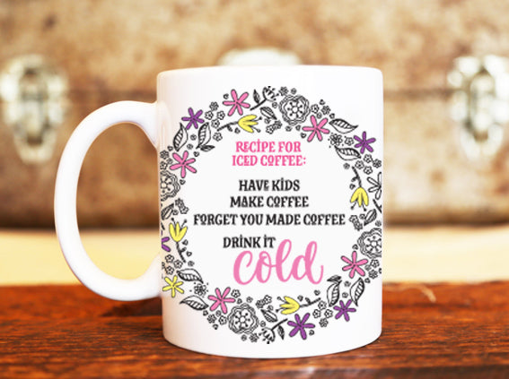 Goochicoo Recipe For Iced Coffee Mug - The Official Aunty Acid Store
