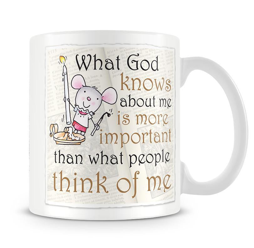 Little Church Mouse Think Of Me Mug - The Official Aunty Acid Store