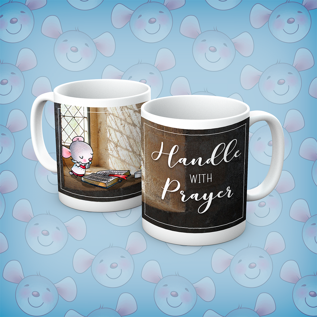 Little Church Mouse Handle With Prayer Mug