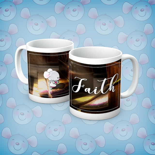 Little Church Mouse Faith Mug