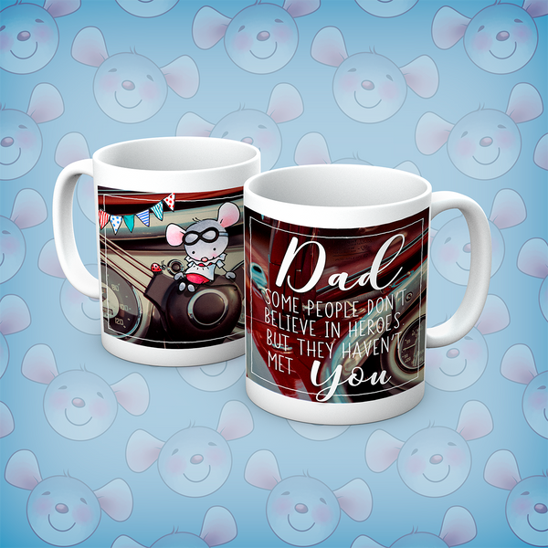 Little Church Mouse Dad Is My Hero Mug