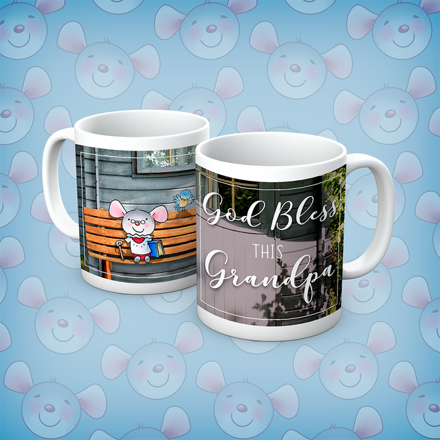 Little Church Mouse God Bless This Grandpa Mug