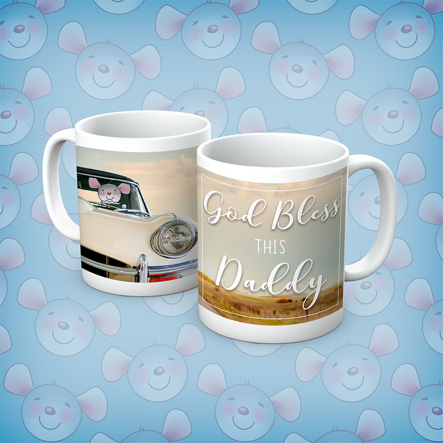 Little Church Mouse God Bless This Daddy Mug