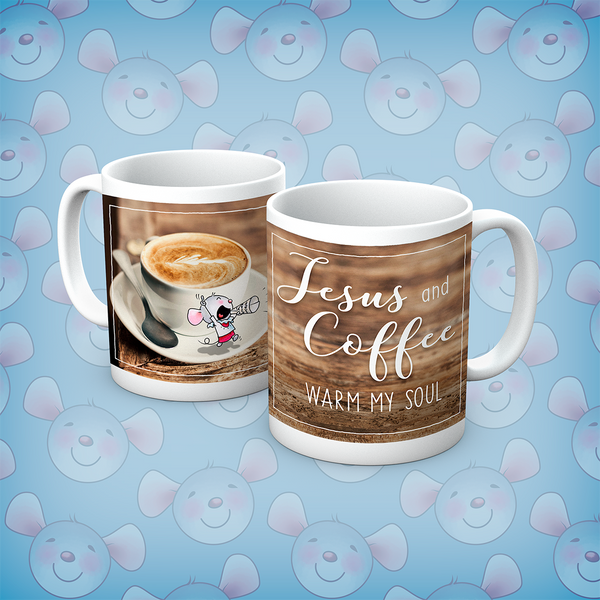 Little Church Mouse Jesus and Coffee Mug