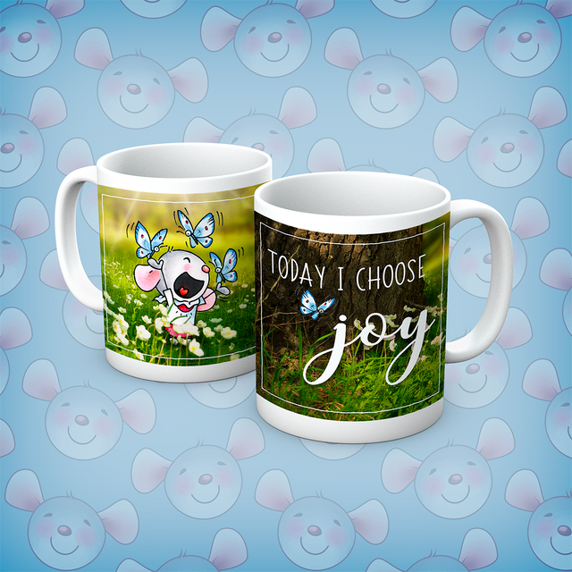 Little Church Mouse I Choose Joy Mug