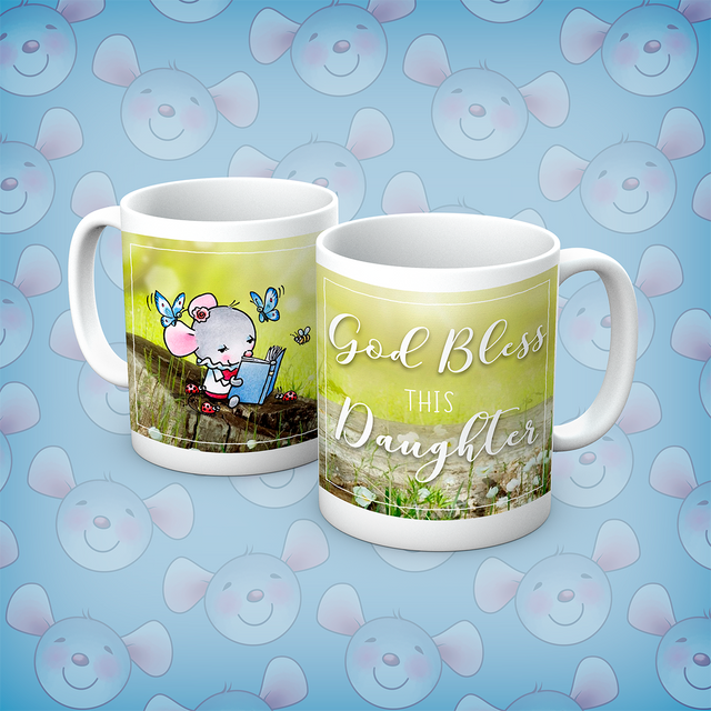 Little Church Mouse God Bless This Daughter Mug