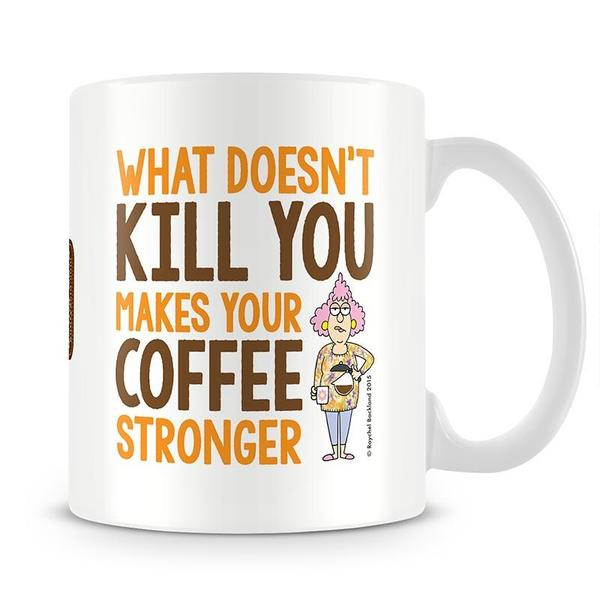 Aunty Acid What Doesn't Kill You Mug - The Official Aunty Acid Store