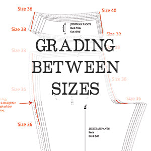 How to grade between sizes on a sewing pattern