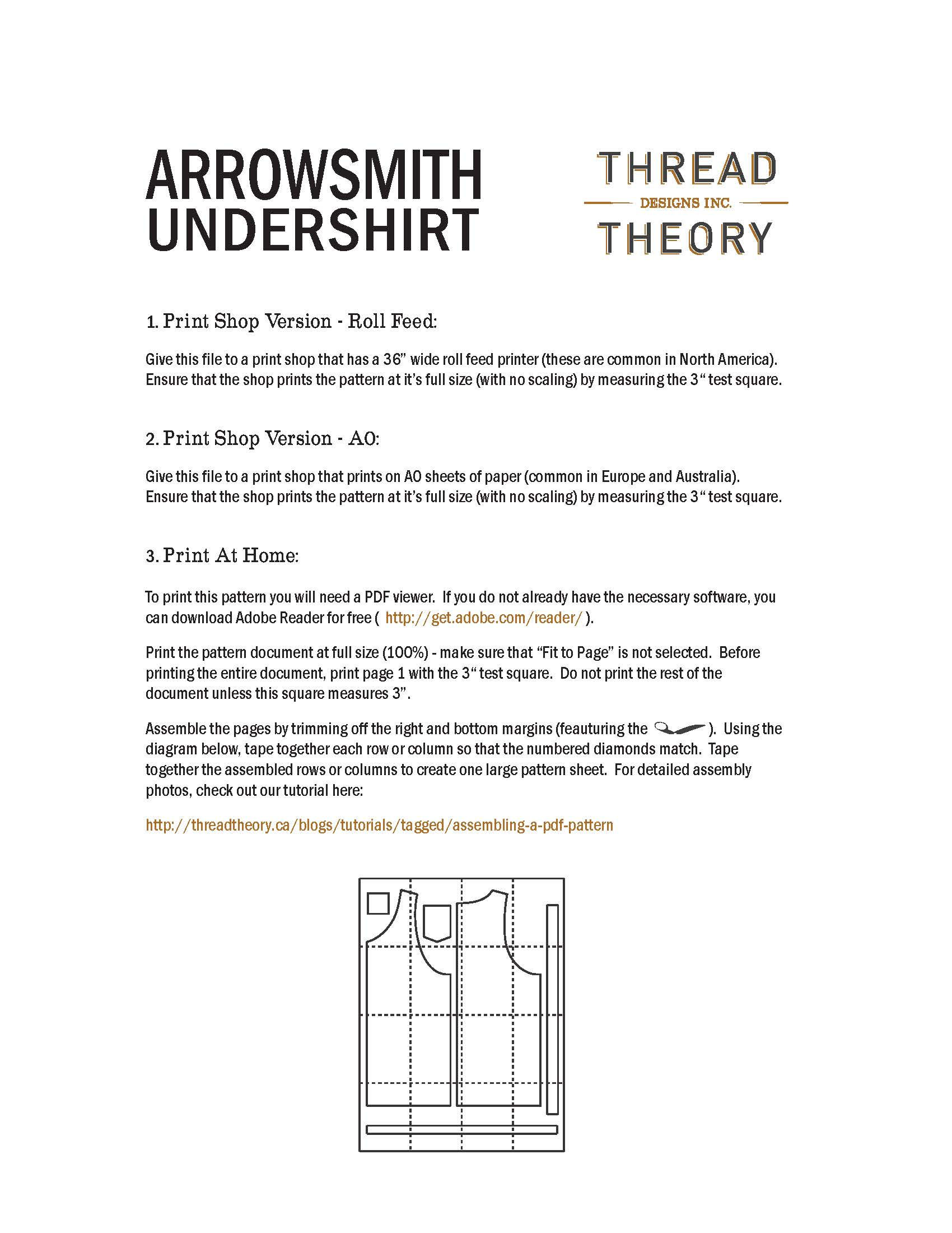 how to assemble a pdf pattern u2013 thread theory