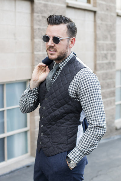quilted waistcoat