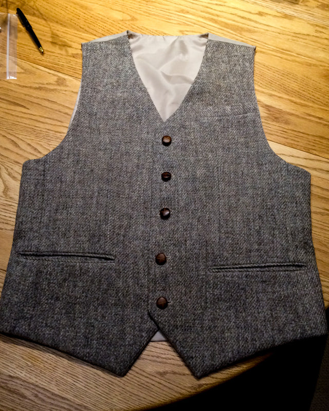 Harris Tweed Repurposed Vest (23 of 26)