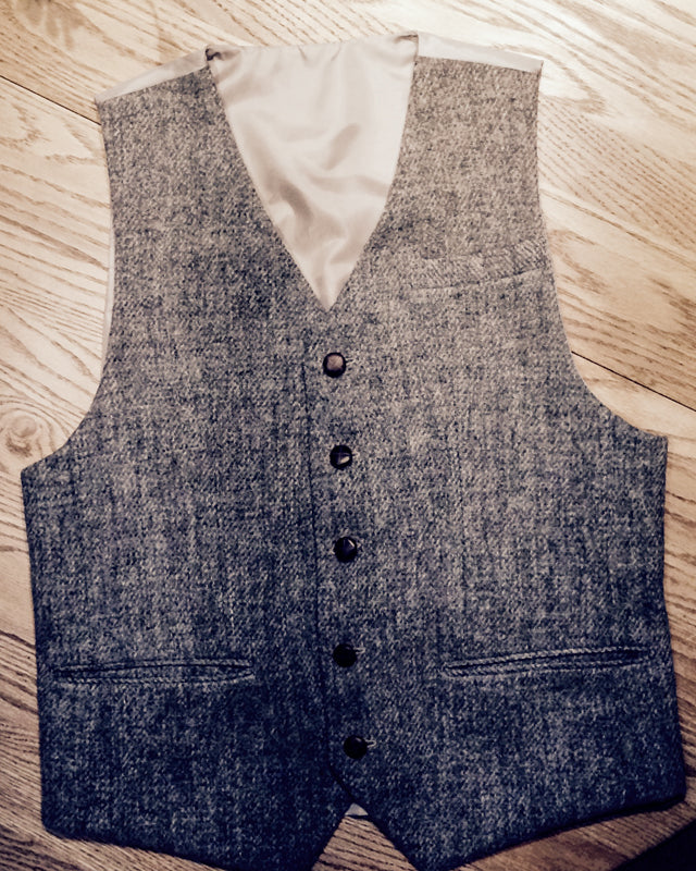 Harris Tweed Repurposed Vest (25 of 26)