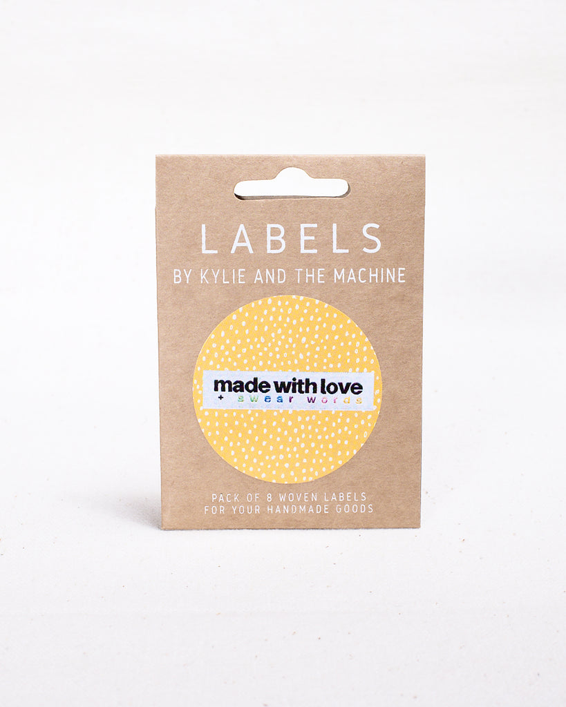 """MADE WITH LOVE + SWEAR WORDS"" Woven Labels 