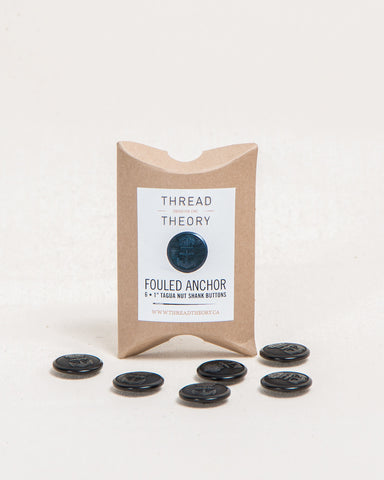 Fouled Anchor Buttons - Set of 6