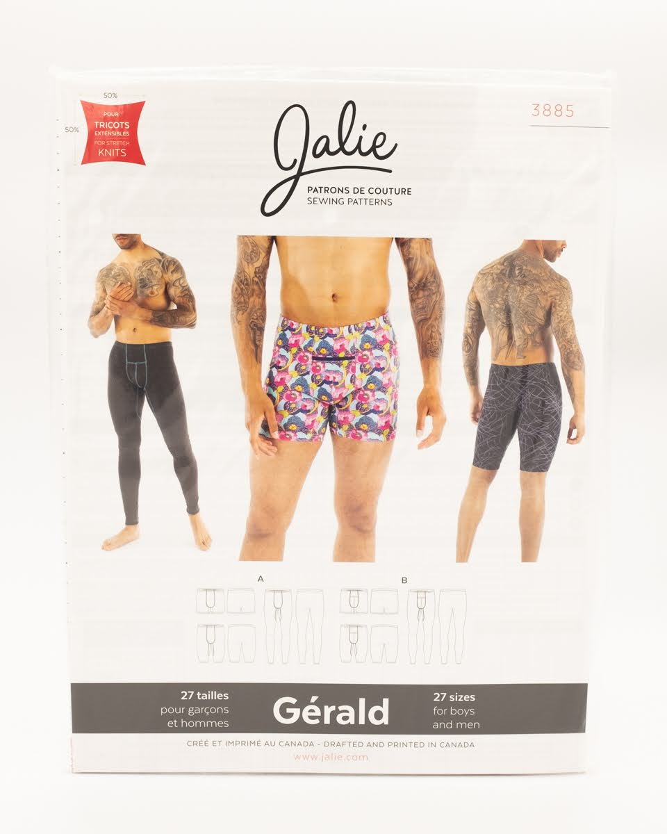 Jalie Sewing Patterns - Gerald Boys and Mens Underwear
