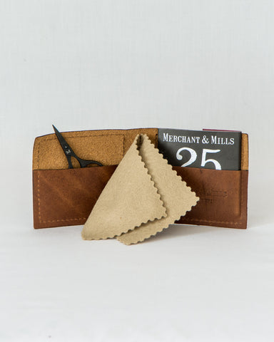 Leather Needle Wallet Gift Set