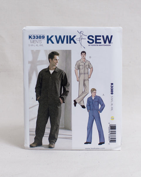 Kwik Sew Patterns - K3389 Men's Coveralls