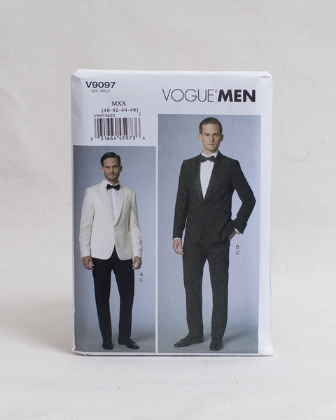 Vogue Patterns - V9097 Men's Shawl Collar Suit