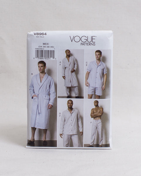 Vogue Patterns - V8964 Robe and Pyjamas