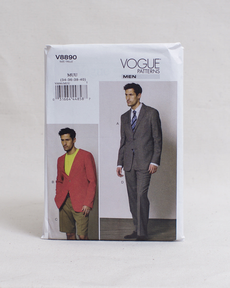 Vogue Patterns - V8890 Jacket, Shorts and Pants