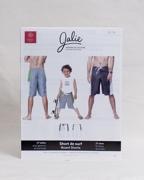 Jalie Sewing Patterns - Board Shorts