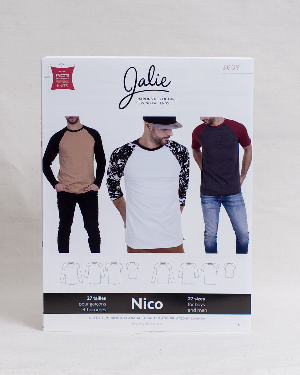 Jalie Sewing Patterns - Nico Raglan Tee