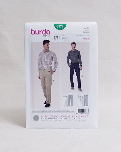 Burda Style Patterns - 6873 Men's Trousers