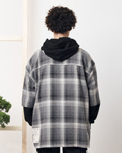 Laden Sie das Bild in den Galerie-Viewer, PREACH DROP 7 ''KAIZEN'' ZIPPED CHECK SHIRT GREY