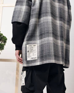 PREACH DROP 7 ''KAIZEN'' ZIPPED CHECK SHIRT GREY
