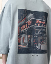 Laden Sie das Bild in den Galerie-Viewer, PREACH DROP 7 ''KAIZEN'' KIMONO STREET CORNER T'SHIRT COLD GREEN
