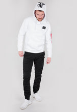 Laden Sie das Bild in den Galerie-Viewer, ALPHA INDUSTRIES BACKPRINT HOODIE WHITE BLACK