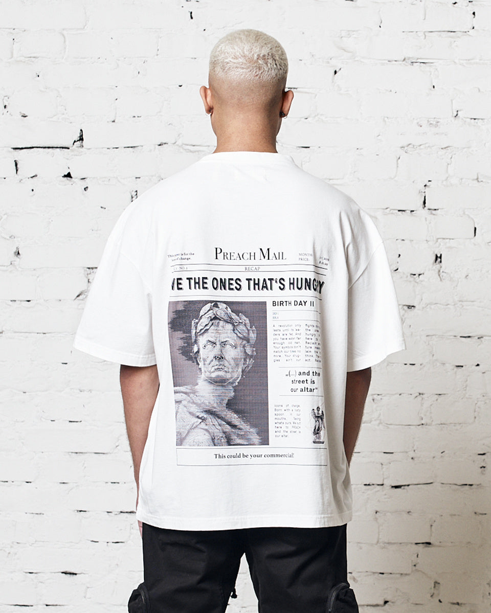 PREACH OVERSIZED SHIRT DROP 2 RECAP CAPSULE WHITE