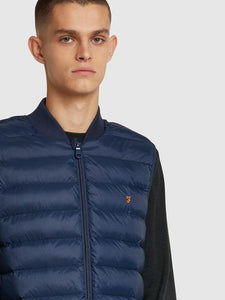 FARAH STANSTALL GILET QUILTED VEST NAVY