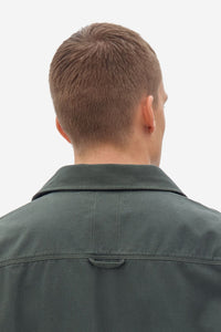 NOWADAYS SOFT TWILL OVERSHIRT MINERAL GREEN