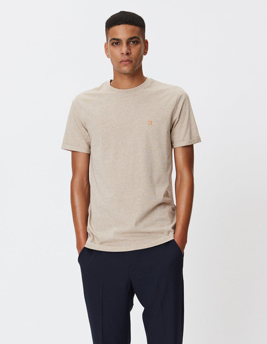 LES DEUX NØRREGAARD T-SHIRT LIGHT BROWN MELANGE