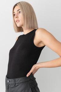 NU-IN OPEN BACK RIBBED BODYSUIT