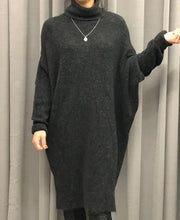 Laden Sie das Bild in den Galerie-Viewer, WOLLSTRICK ROLLKRAGEN  KLIED LONG FIT GREY MELANGE