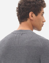 Laden Sie das Bild in den Galerie-Viewer, NOWADAYS MULTI STRUCTURE SWEATER GREY MELANGE ORIGINAL PREIS 99,95