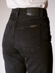 NUDIE JEANS BREEZY BRITT JEANS BLACK WORN