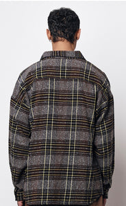 PREACH OVERSIZED CHECK FLANNEL MOCCA
