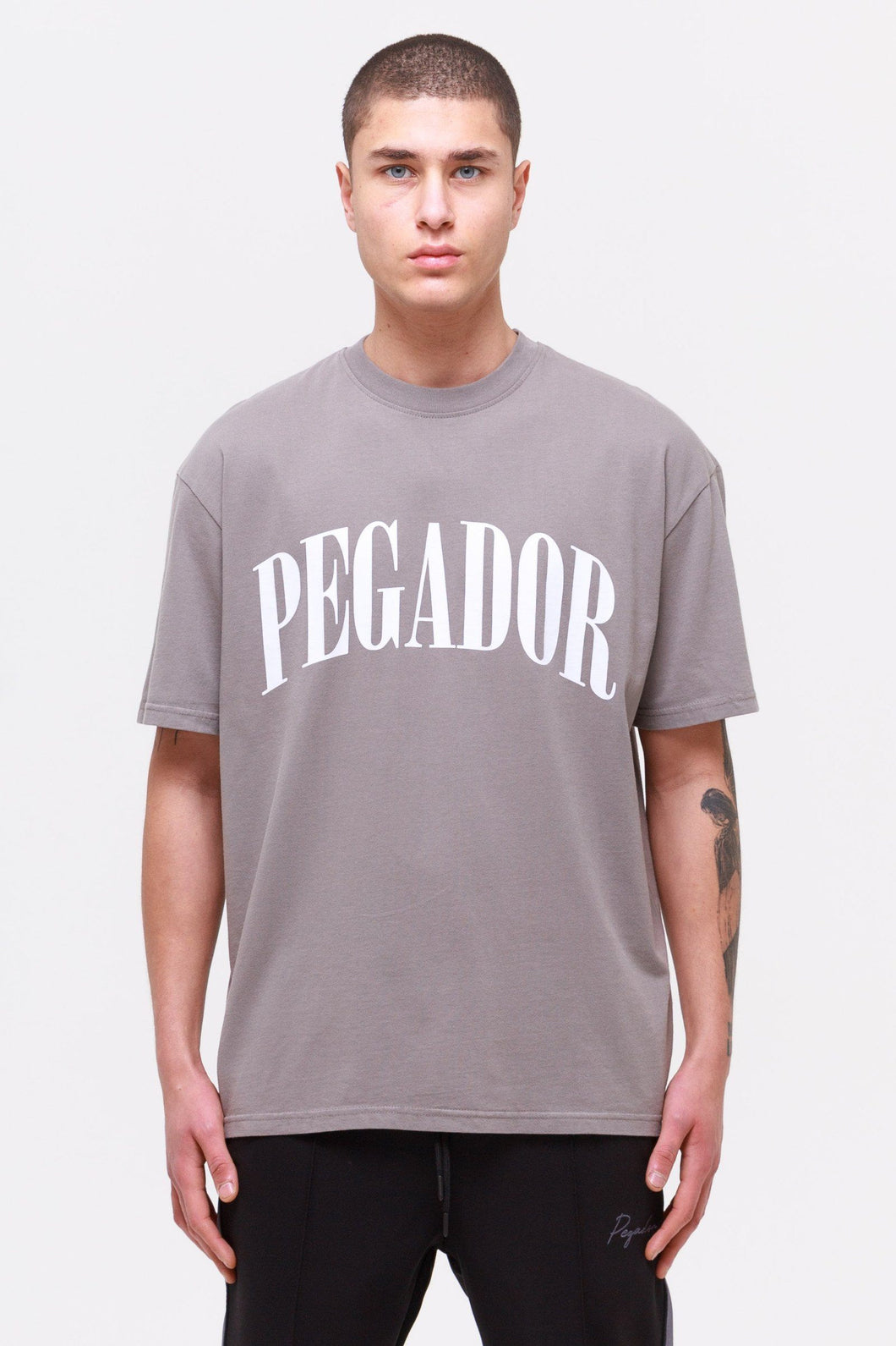 PEGADOR CALI OVERSIZED T-SHIRT WASHED FROST GREY