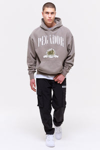 PEGADOR UTAH OVERSIZED HOODIE WASHED FROST GREY