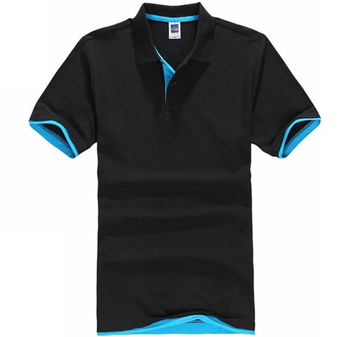 Men's T-Shirt Polo Shirt Cotton Short Sleeve Tee Mens Top Man Business Golf