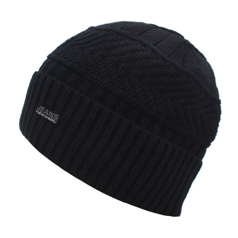 Beanies Winter Hats For Men Beany Knitted Hat Women Male Warm Soft Neck