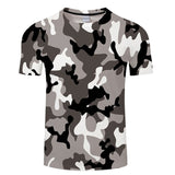 3D Printed Men's T-Shirt Ink Draw Pattern Short Sleeve Summer Casual Mens Tops