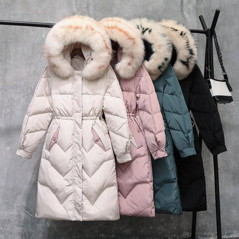 90% White Duck Down Women Jacket Girls Winter Jacket Thick Long Coat for Women