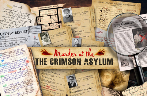 Murder at the Crimson Asylum Murder Mystery Game